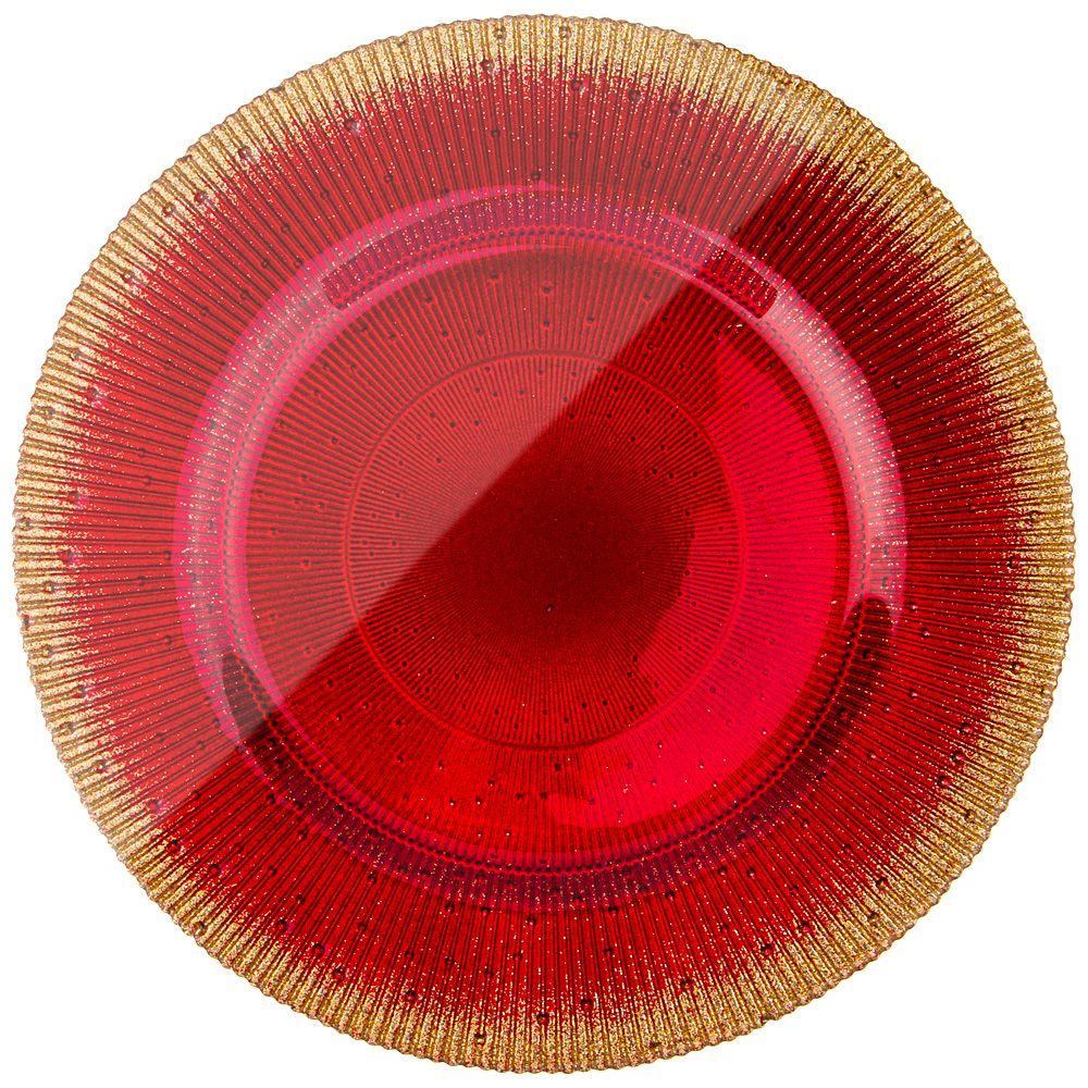 "ТАРЕЛКА ""GLAMOUR RED"" 28СМ"