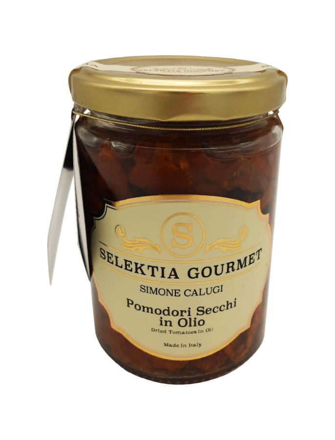 Томаты вяленые в масле 270 г. Pomodori secchi in olio, Selektia Tartufi 270 g