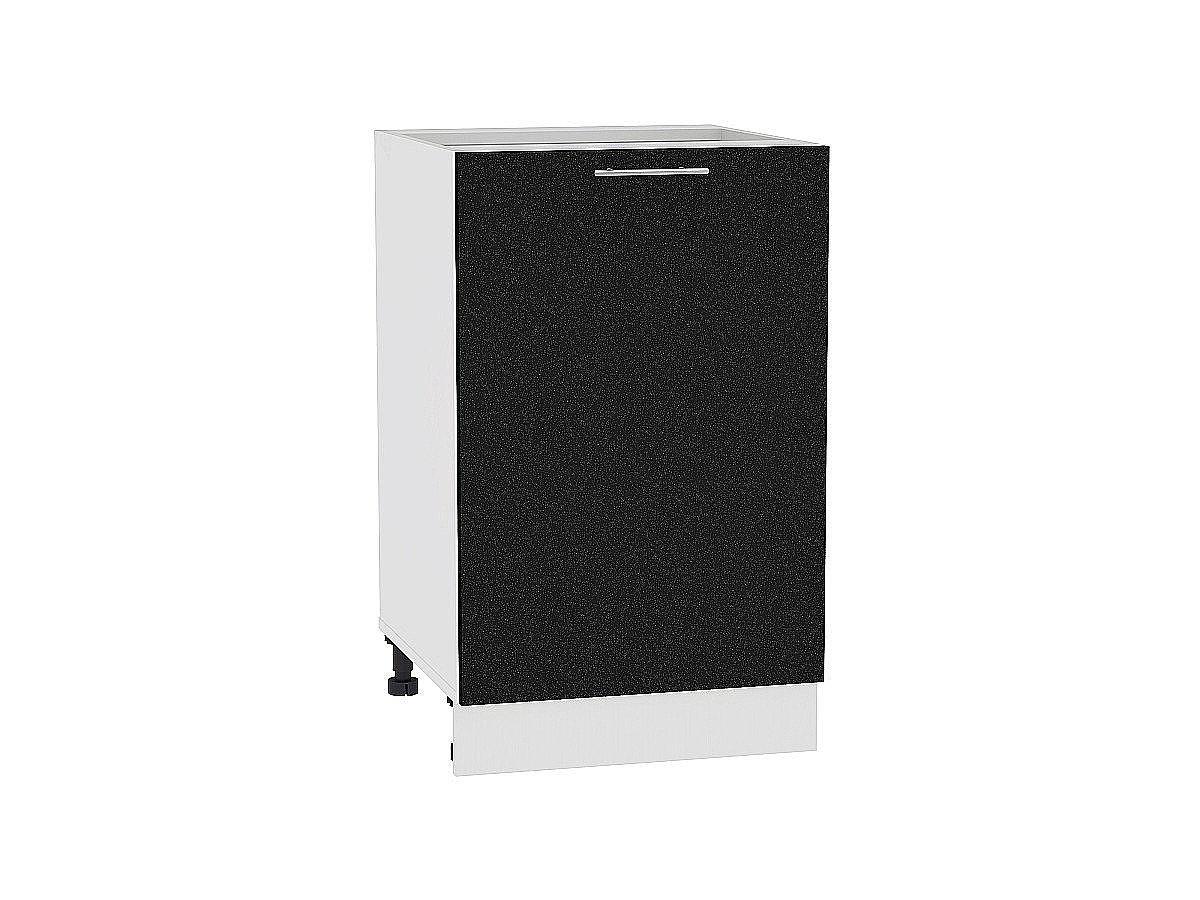 Шкаф нижний Валерия Н600-Ф46 (чёрный металлик)