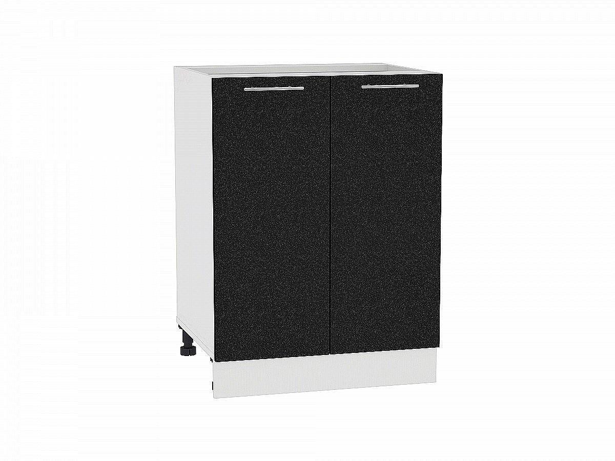 Шкаф нижний Валерия Н600 (чёрный металлик)