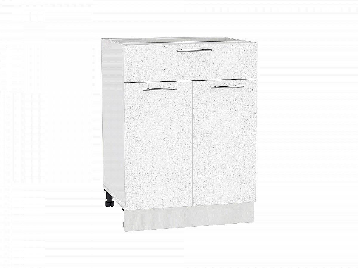 Шкаф нижний Валерия Н601 (белый металлик)