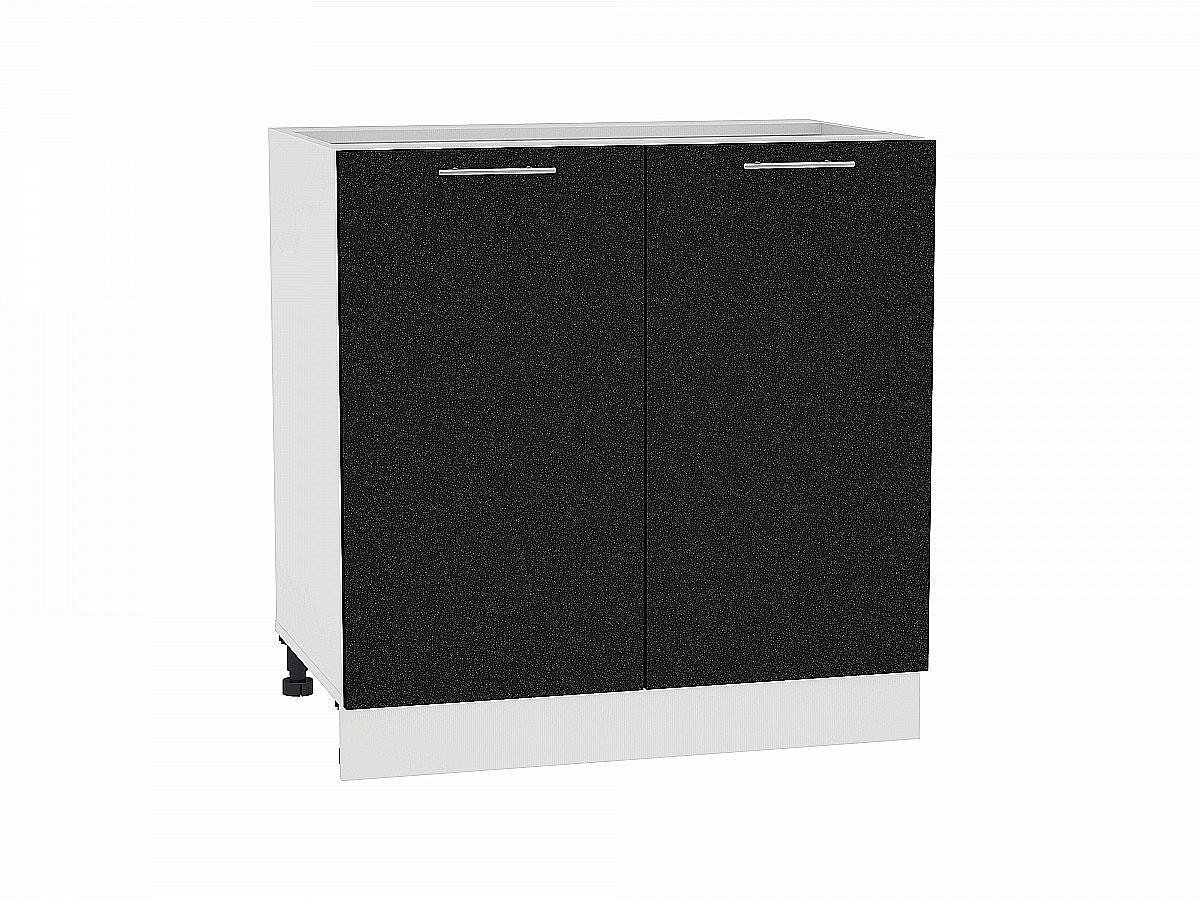 Шкаф нижний Валерия Н800 (чёрный металлик)