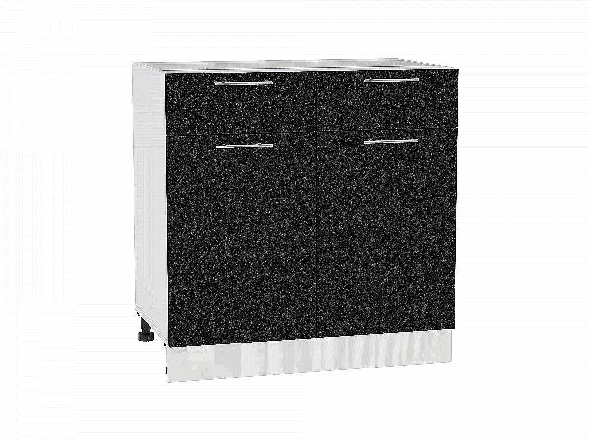 Шкаф нижний Валерия Н801 (чёрный металлик)