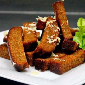 Гренки с чесноком и сыром 250 гр