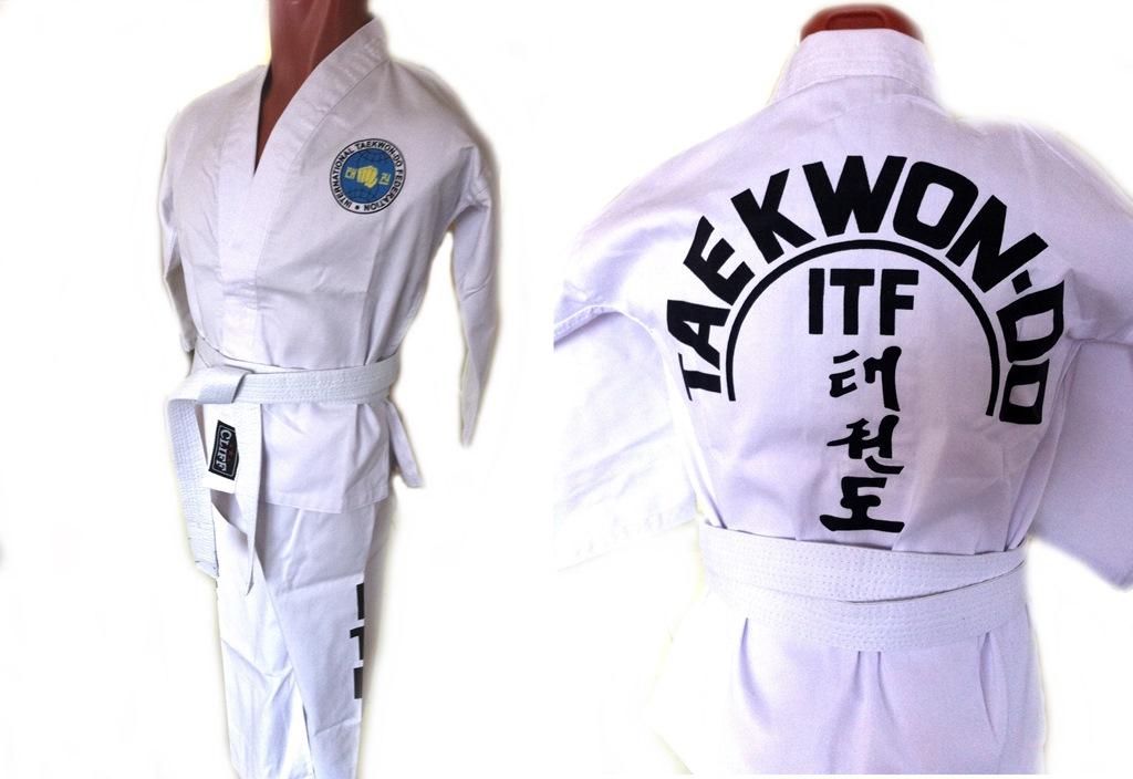Кимоно для Тэквондо ITF, для тренировок в зале, размер 3/160