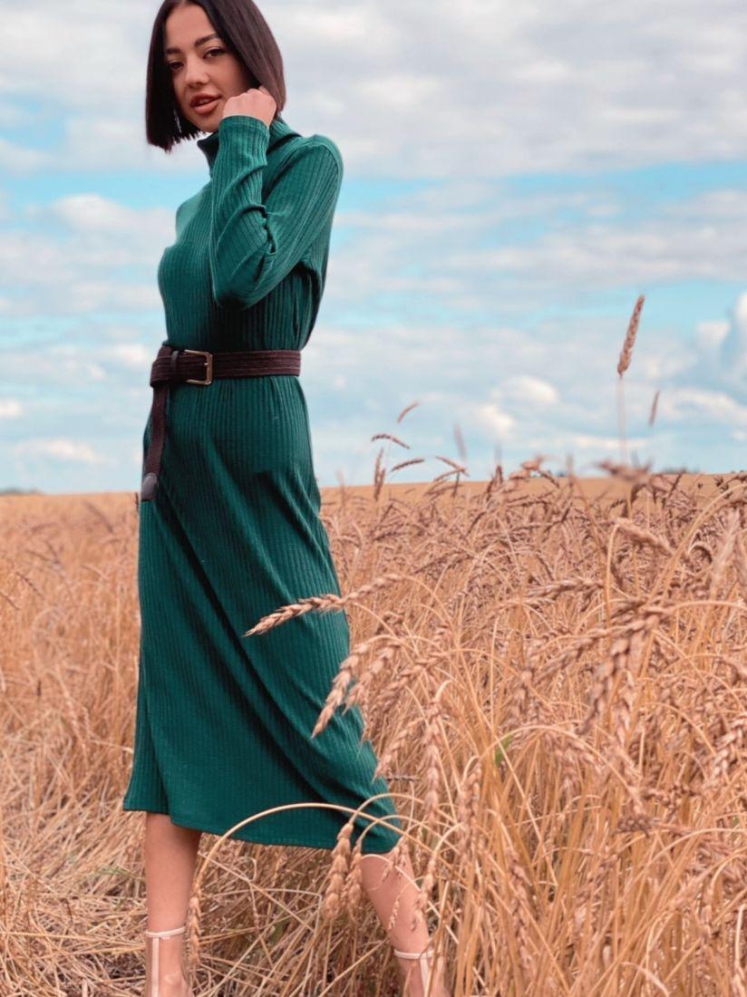 4479 Платье-лапша изумрудное