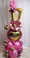 Подарочная композиция из шаров, с цифрами
