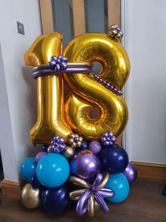 Подарочная напольная композиция из шаров, с цифрами