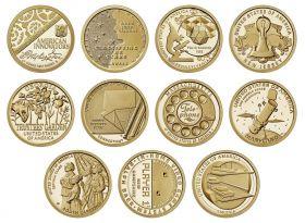 США 1 доллар 2019-2011 Инновации. Набор 11 монет. UNC