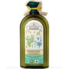 Шампунь для окрашенных и мелированных волос ромашка лекарственная и льняное масло Зеленая Аптека 350 мл