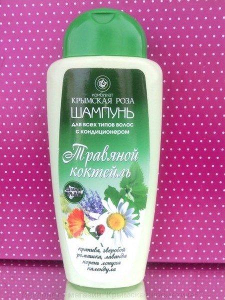 Шампунь Травяной коктейль для всех типов волос Крымская Роза 250 мл