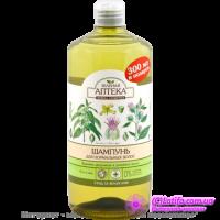 Шампунь для нормальных волос с крапивой двудомной и репейным маслом Зеленая Аптека 1000 мл