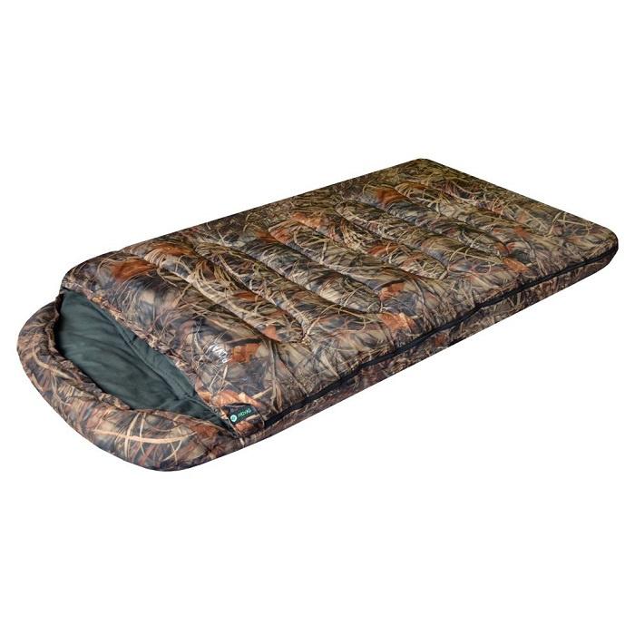 Спальный мешок PRIVAL Берлога_2 КМФ (220х110см, капюшон, шервисин, 450 гр/м2, левый) 0 до -20