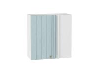 Шкаф верхний прямой угловой Прованс ВУ690 (голубой)