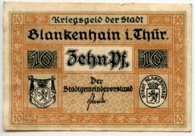 Германия. Нотгельд г. Бланкенхайн 10 пфеннигов 1921