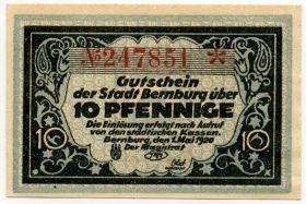 Германия. Нотгельд г. Бернбург 10 пфеннигов 1920