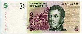 Аргентина 5 песо 2003