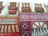 Схема для вышивки крестом Улочка в Париже. Отшив.