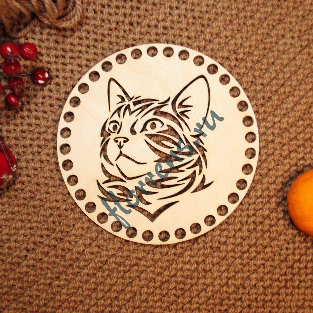 Крышка из фанеры / 15 см, кот