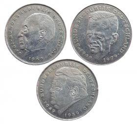 Германия набор 3шт - 2 марки 1978, 1989 и 1991 годов.