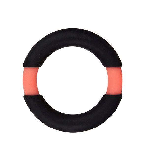 Черно-оранжевое эрекционное кольцо на пенис Neon Stimu