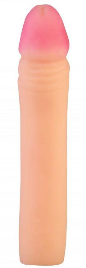 Телесный реалистичный фаллоудлинитель - 19 см.