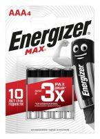 Батарейки Energizer MAX E92/AAA 1.5V - 4 шт.