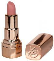 Золотистый вибратор-помада с бежевым мягким кончиком Hide   Play Rechargeable Lipstick