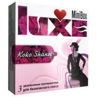 Ароматизированные презервативы Luxe Mini Box  Коко Шанель  - 3 шт.