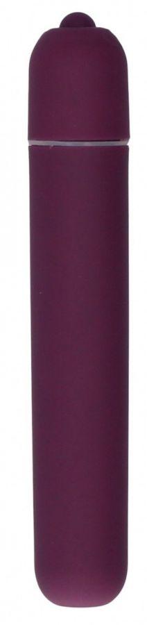 Фиолетовая вибропуля Bullet Vibrator Extra Long - 10,5 см.