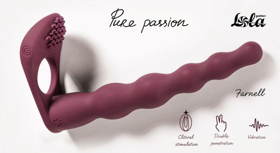 Бордовая вибронасадка для двойного проникновения Farnell - 17 см.