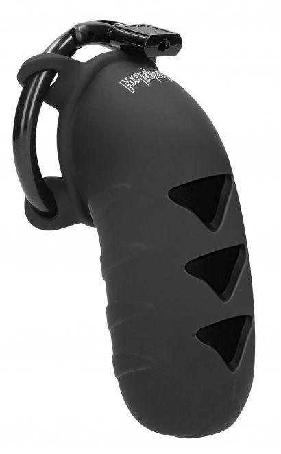 Черный мужской пояс верности Cock Cage Model 08 Chastity 4.2