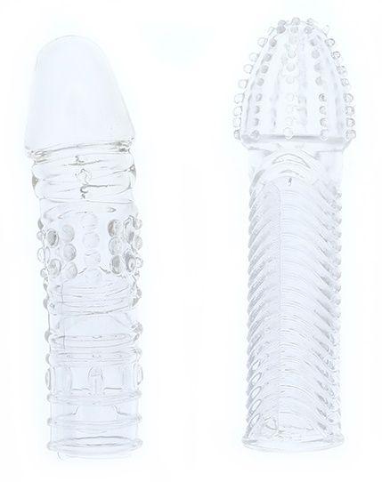 Комплект из 2 прозрачных насадок на пенис PENIS EXTENDER PACK