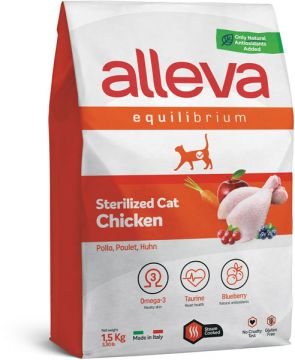 Alleva Equilibrium Sterilized Chicken (Аллева Эквилибриум стерилайзд с курицей) для кошек