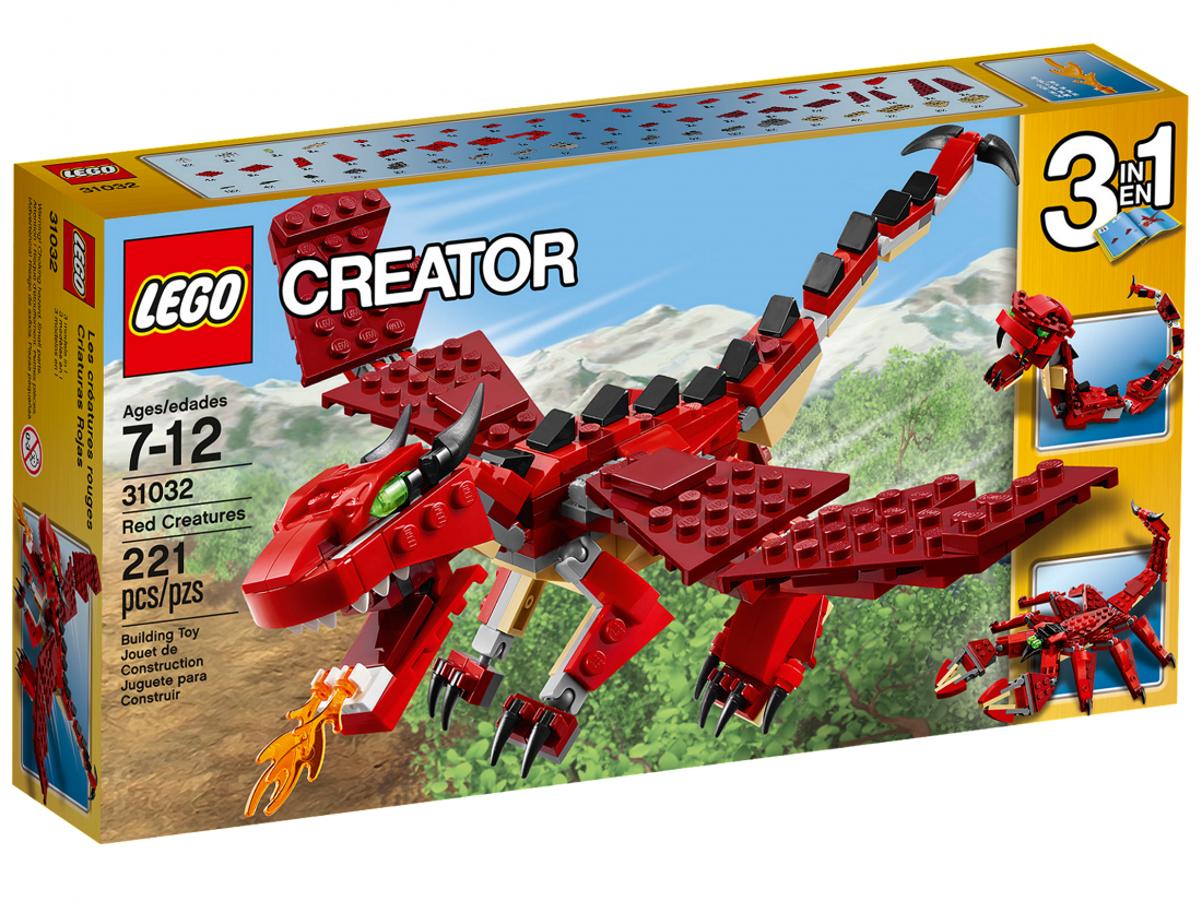 31032 Огнедышащий дракон. ЛЕГО 31032 LEGO Creator