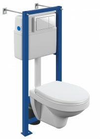 Комплект инсталляции Cersanit DELFI TPL + VECTOR + ENTER белый SET-DEL/Vec/TPL/En-Wh-w