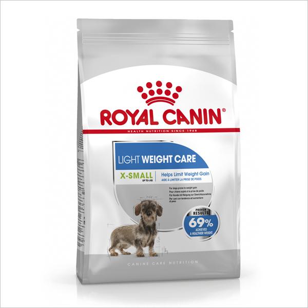 Сухой корм для собак малых пород Royal Canin X-Small Light weight care с избыточным весом