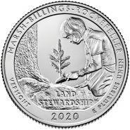54 ПАРК США - 25 центов 2020 год. Национальный исторический парк Рокфеллера