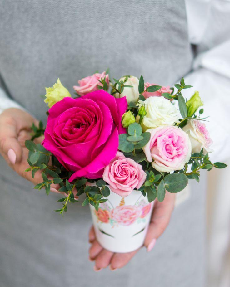 Цветочный стаканчик №2