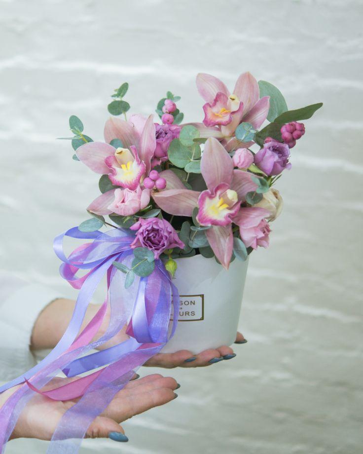 Композиция с орхидеей №1