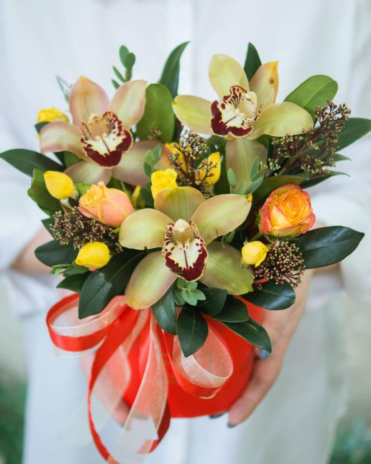 Композиция с орхидеей №2