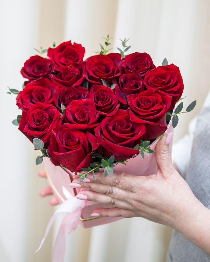 """Коробка с цветами """"От всего сердца"""""""