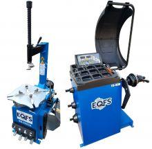 Комплект ES-3023a Шиномонтажный станок полуавтомат + ES-450 Балансировочный станок