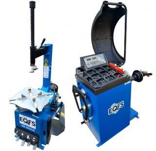 Комплект ES-3023a Шиномонтажный станок полуавтомат + ES-600 Балансировочный станок автомат