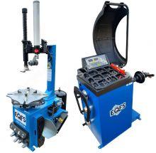 Комплект ES-3923a Шиномонтажный станок полуавтомат + ES-600 Балансировочный станок автомат