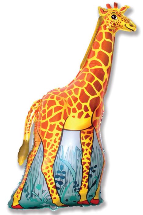 Шар (47''/119 см) Фигура, Жираф, Оранжевый