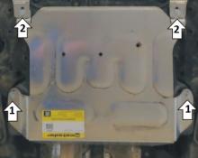 Защита картера и КПП дополнительная, Motodor, алюминий 4мм