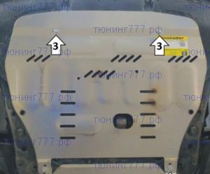 Защита картера и КПП, Motodor, алюминий 4мм