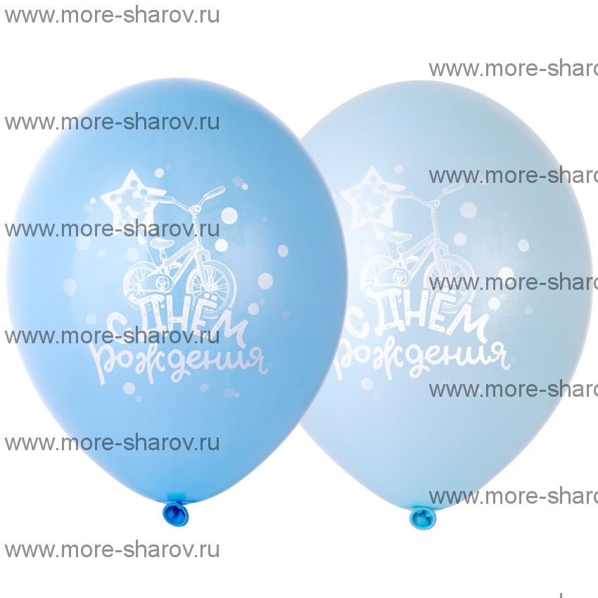 "Шар 14""(34см) Велосипед Голубой"
