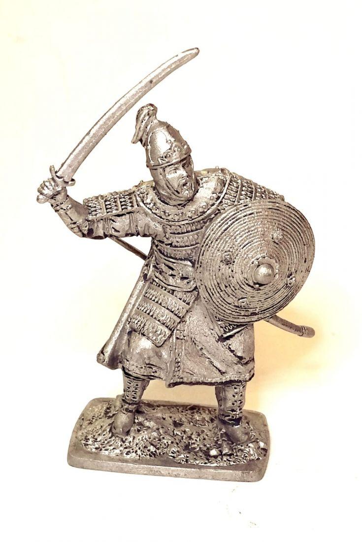 Фигурка Монгольский воин, 13 век олово